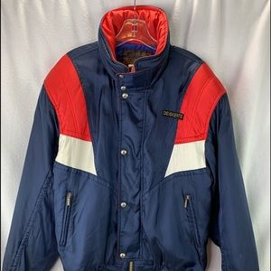 Descente Jacket Men's Blue Red Sz L Ski Snowboard
